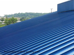 Roof coating on metal standing seam